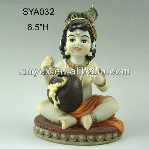Resinic baby krishna Indian God Idols