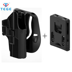 Newest concealment qualified gun holster for Glock 19/23/32 polymer holster paddle belt clip attached