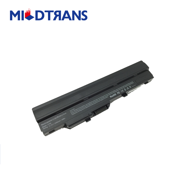 OEM high quality cheap laptop battery replacement for MSI U100 N011 BTY-S11 BTY-S12 11.1V 5.2Ah 58Wh Black