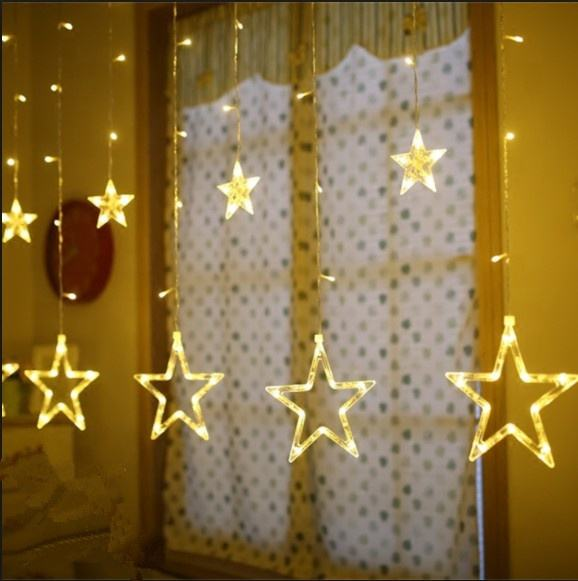 300LED Star Decoration Window Wall Curtain light string