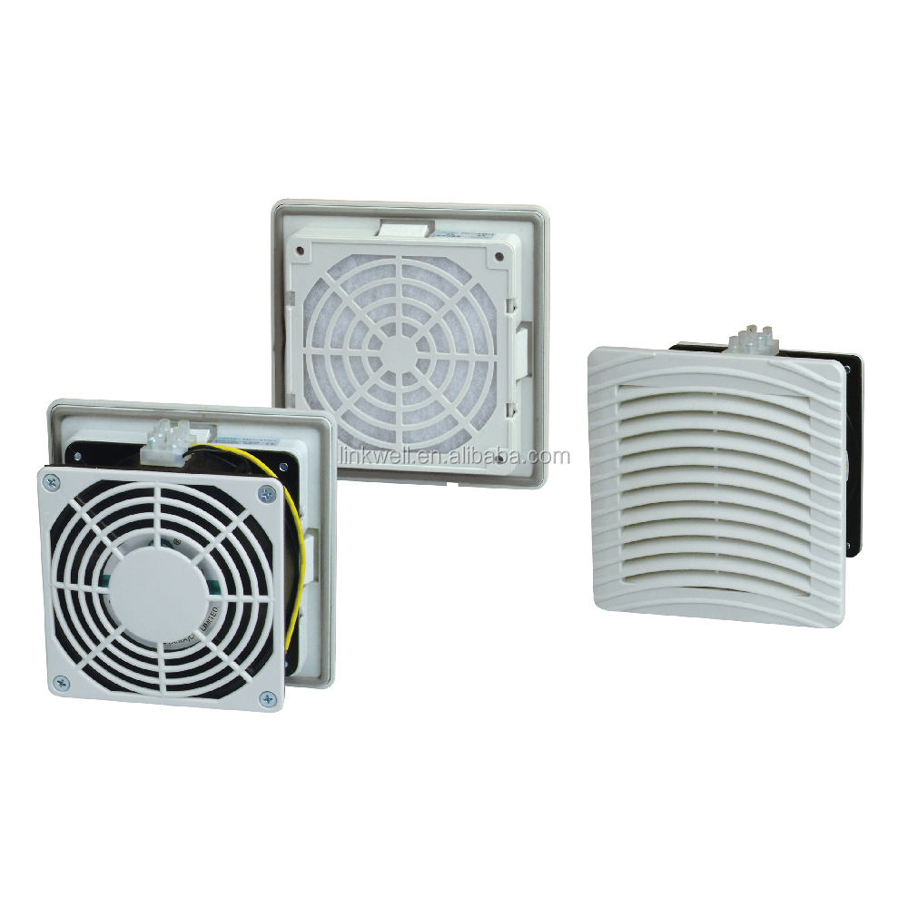 China supplier electric panel cabinet louver style ac dc cooling fan filter FK55 with CE