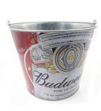 5L round tin ice bucket- BUDWEISER