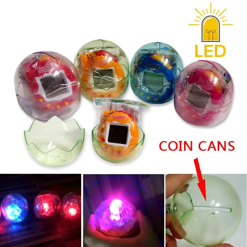 New LED Tumbler Coin cans Dinosaur egg Virtual Electronic Pet Machine Digital Electronic E-pet Retro Cyber Toy Handheld Game