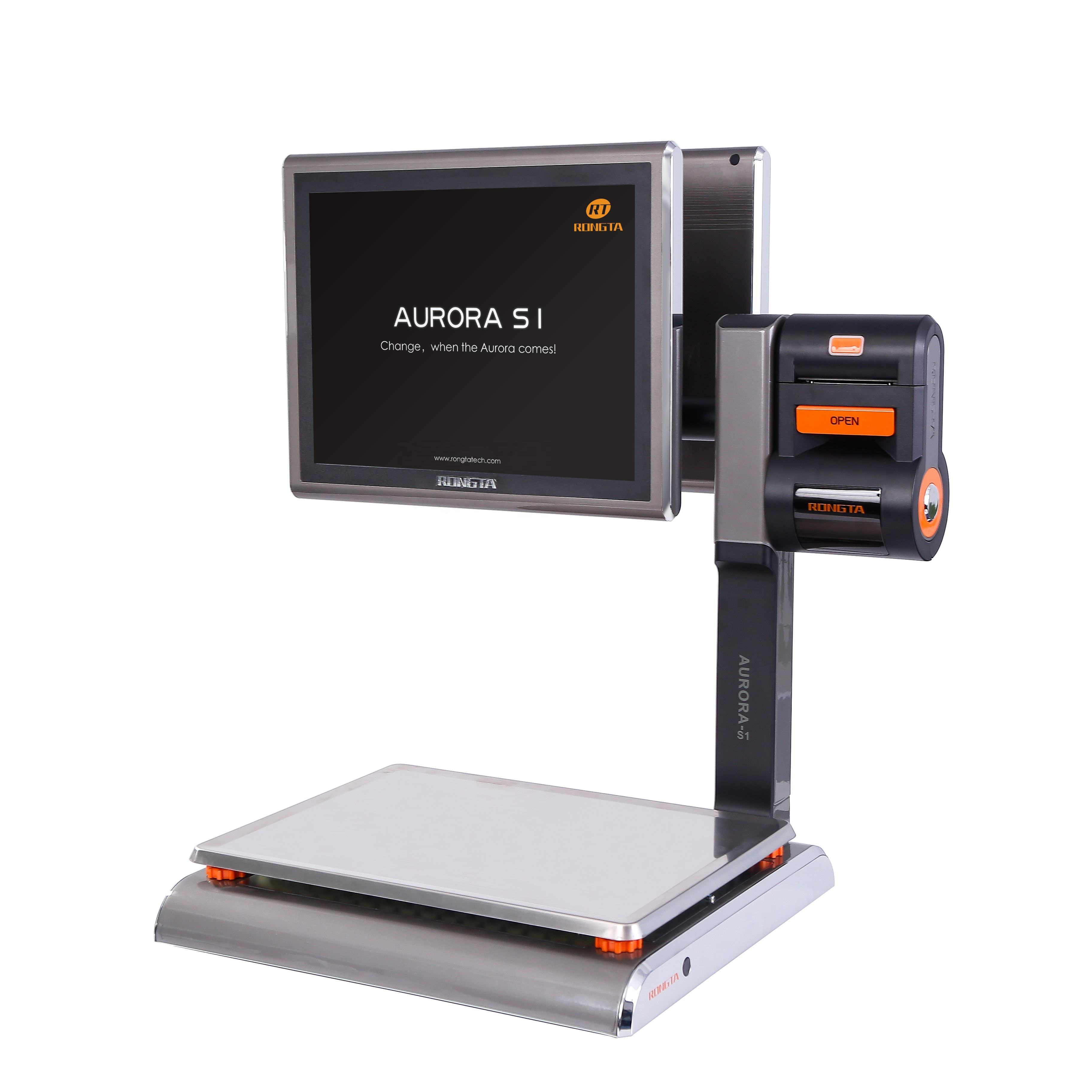 OIML 승인 PC POS scale 와 영수증 printing 15 KG Aurora S1