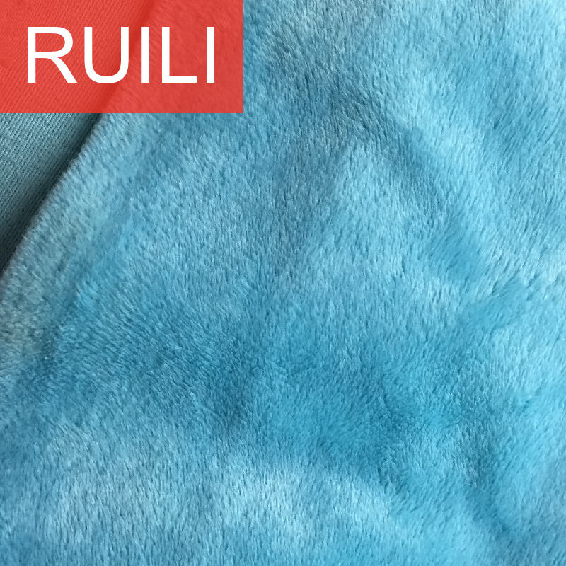 polyester knitted short pile velvet fabric