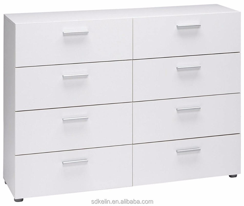 Modern White 8-drawer Dresser for Sale