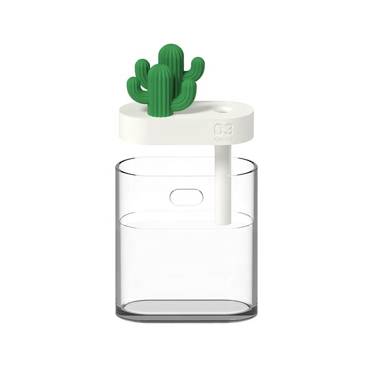 160Ml Portable Air Diffuser Usb Mini Cactus Ultrasonic Humidifier With Led Night Light Atomizer