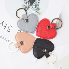 Fashion Designer High Quality Leather Keychain Heart Custom