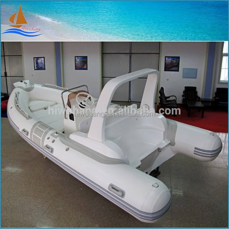 RIB inflatable boat high speed fiberglass hull inflatable boat for fishing