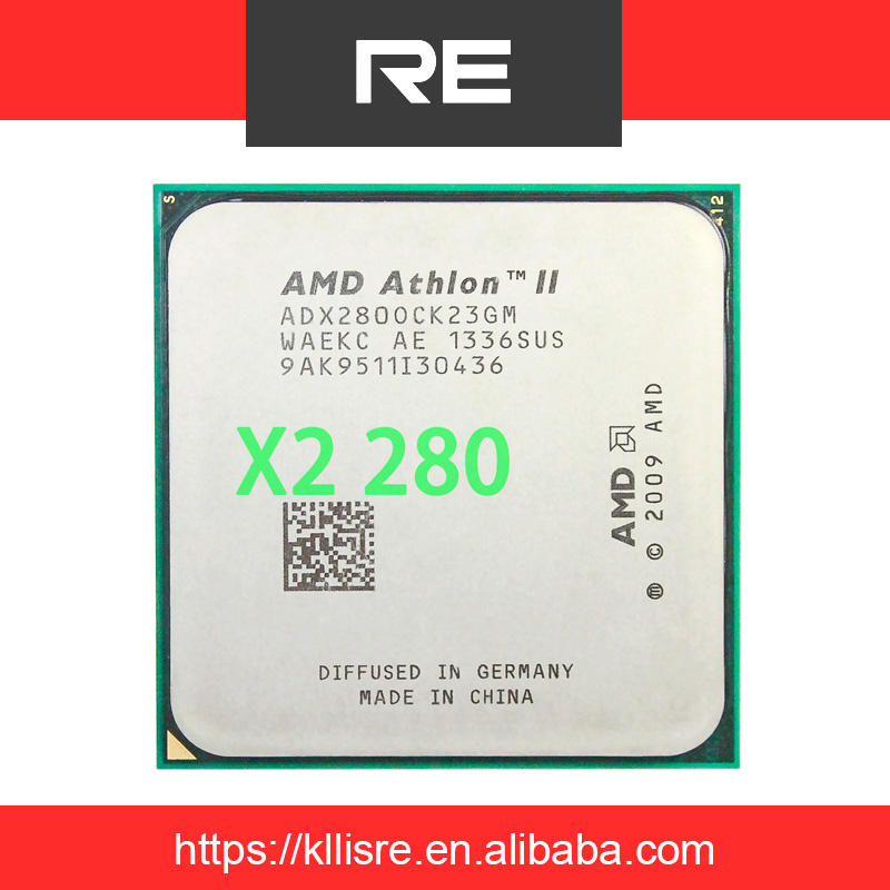 AMD Athlon II X2 280 3.6Ghz, Soket Prosesor Dual Core AM3/AM2 + Cpu 938 Pin