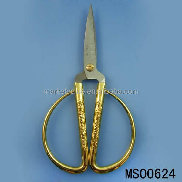 6'' S/S golden color Twin Bliss scissors