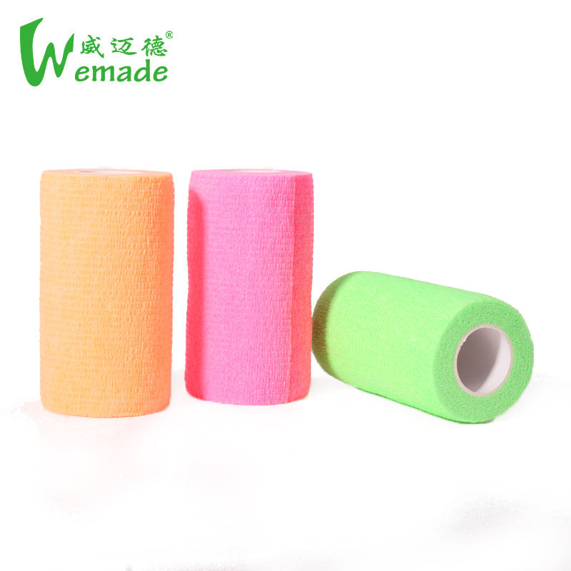 Medical Colored Nonwoven Easy Hand Tear Self Adhesive Ankle Animal Elastic Cohesive Leg Bandage Horse Wrap Buy