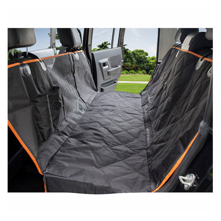 Bestsale Heavy Duty Quilted Waterproof pet dog Car Hammock Back Seat Cover with Mesh Window