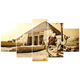 Camel landscape in Egyptian desert 5-piece decoration wall scenery painting canvas wall painting