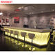 Modern Marble Top Portable Restaurant Night Club Furniture Led Bar Counter Table Design