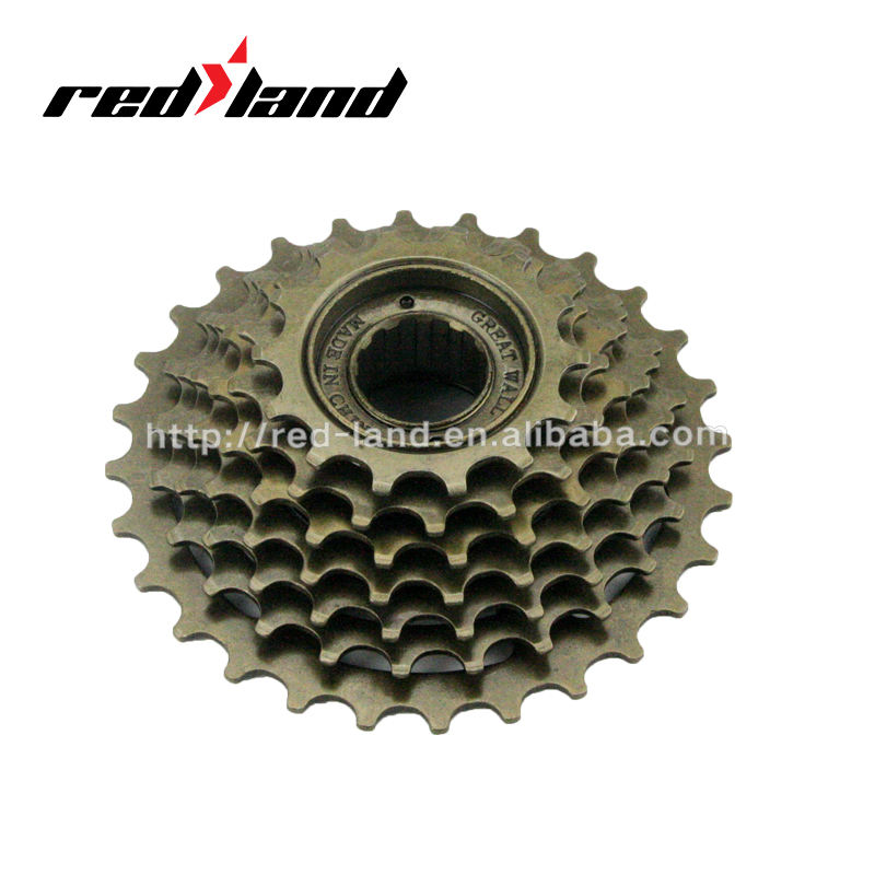 7 speed non-index freewheel bicycle double freewheel parts