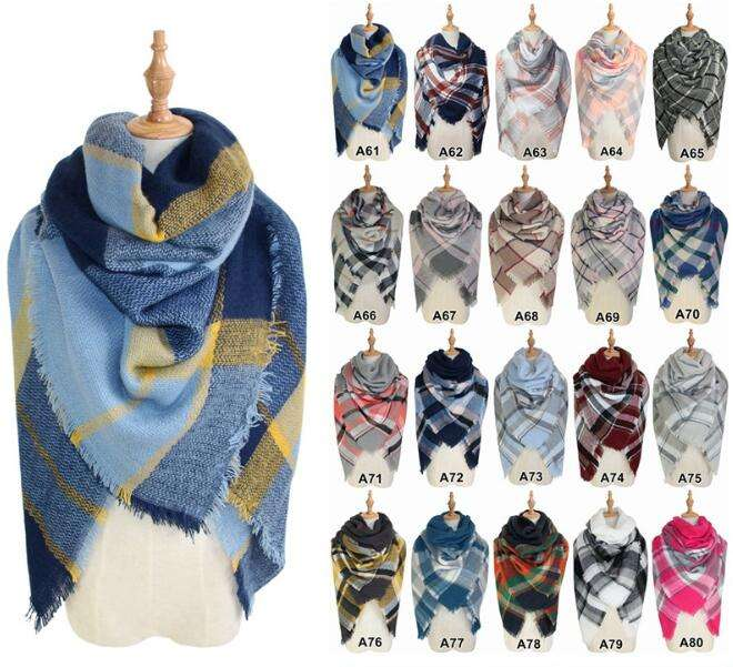 Newest Fashion Lady's High quality Blanket women scarf Multi Color 100% cotton pashmina shawl scarf