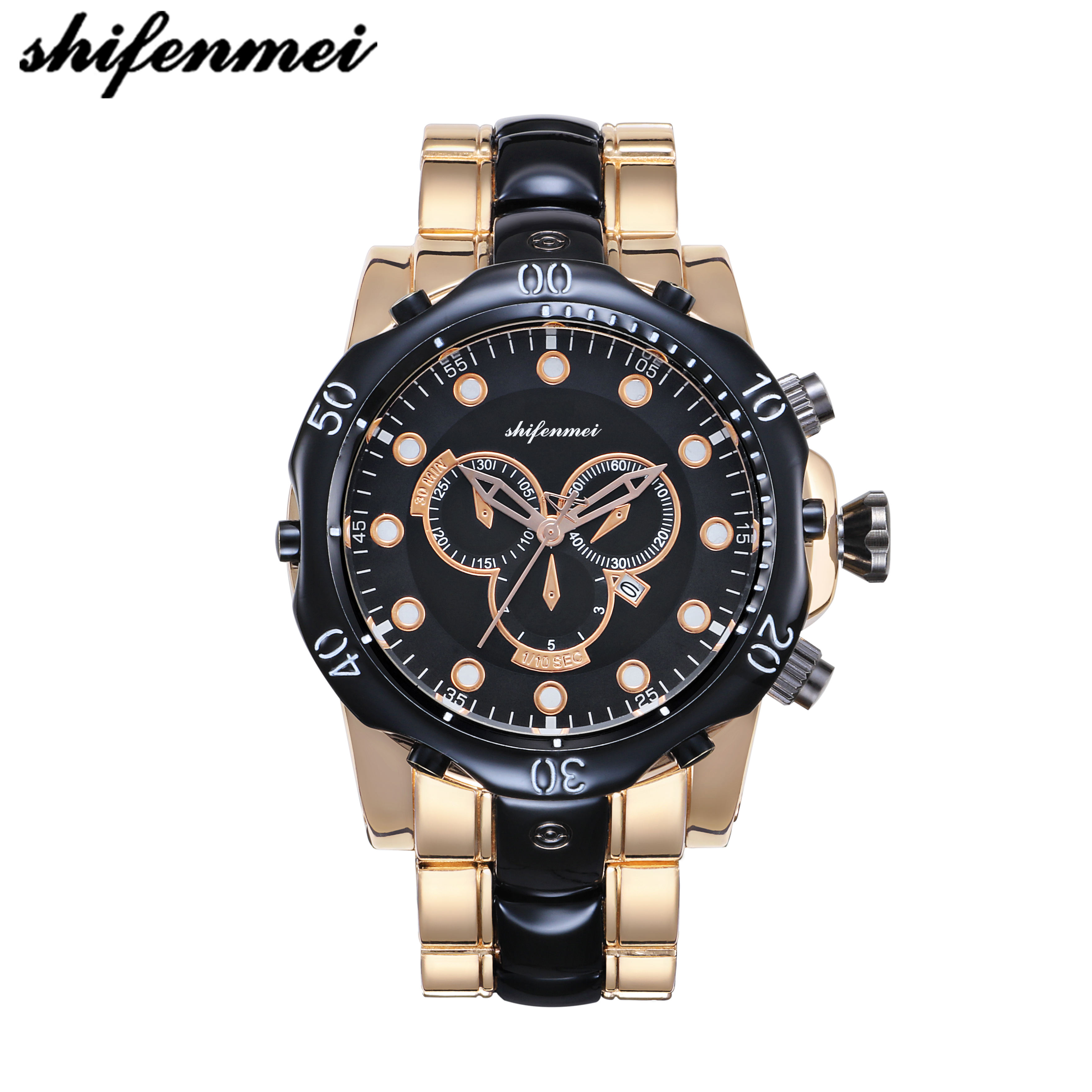 shifenmei S1072 watch custom luxury men's hot Shifenmei S 1072 charm quartz men watch