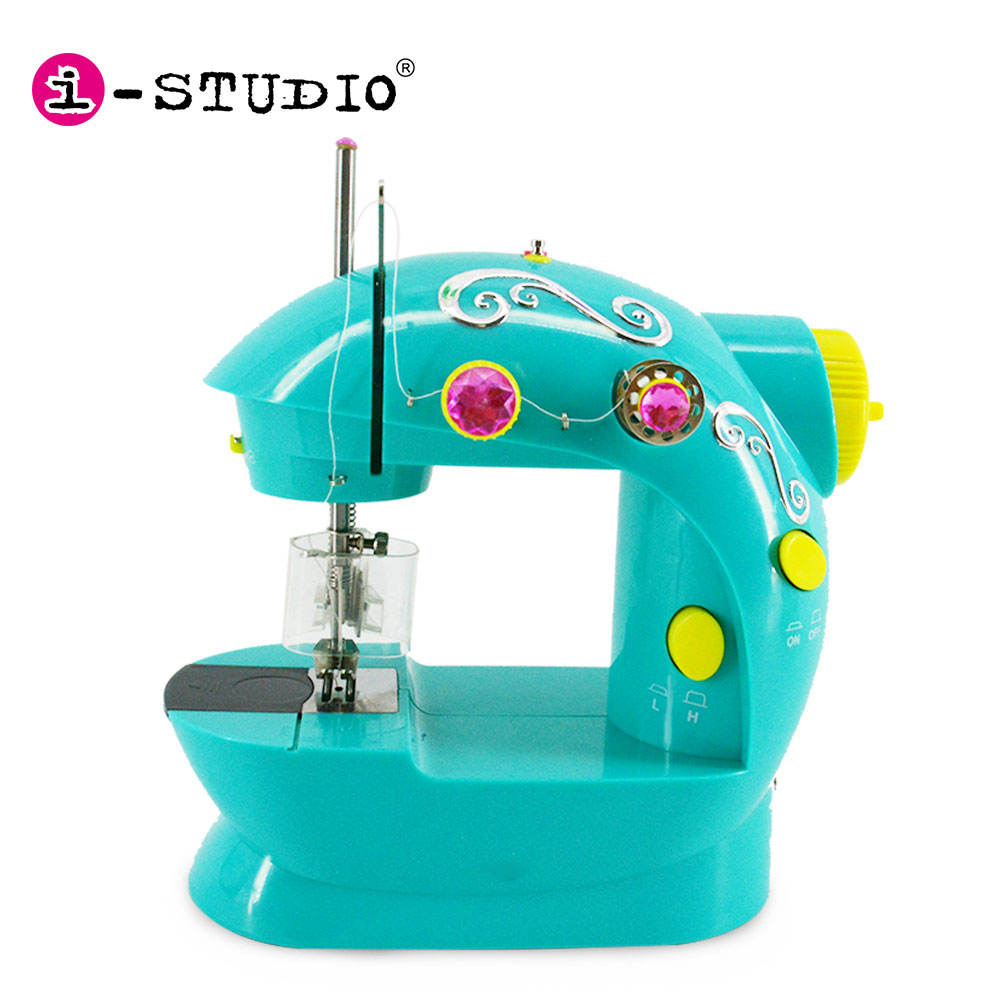 Adjustable 2 speed double thread portable household mini sewing machine