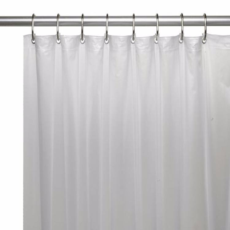 Every Home Decoration 12 Hang Clear Vinyl Bath Cushion Plastic Shower Curtain Liner