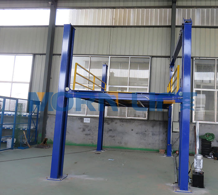 four post vertical hydraulic car parking lift platform