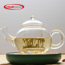 Eco-friendly transparent coffee pot heat resistant glass teapot with infuser