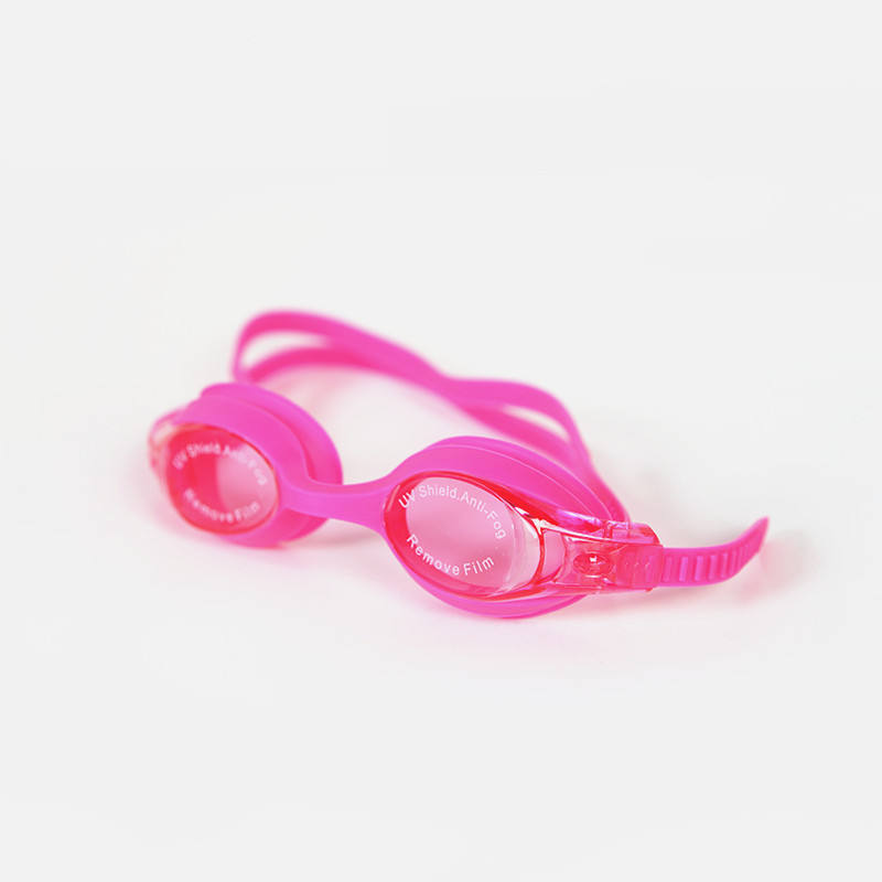 Silicone automatic adjustable kid's swimming goggles