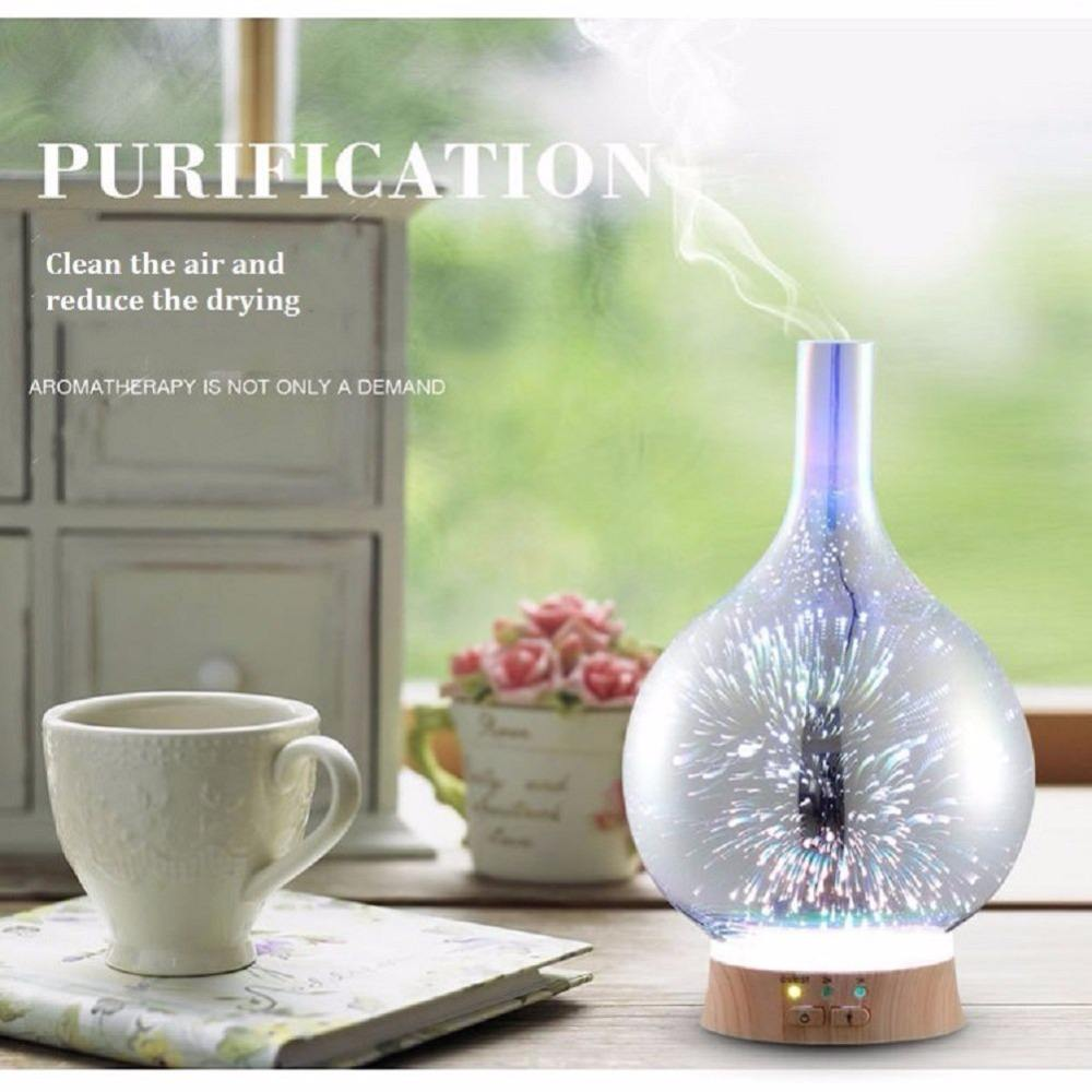 Cool-Mist Impeller Humidifier Kingood Electronics Essential Oil Thann Fea 3d 100ml Glass Aroma Diffuser
