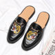 2019 new arrival slip on half slippers dress black casual leather shoes men loafers