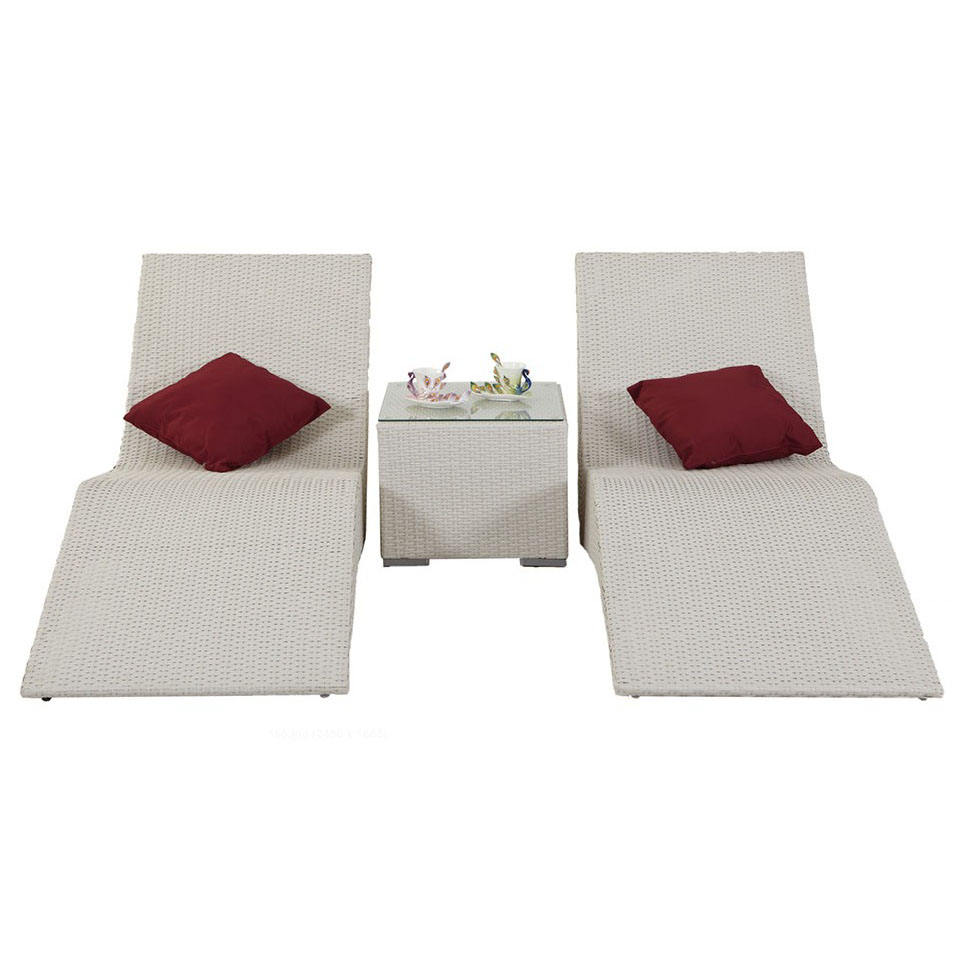 Patio Furniture Wicker Rattan Outdoor Daybed And Outdoor Rattan Sun Lounger