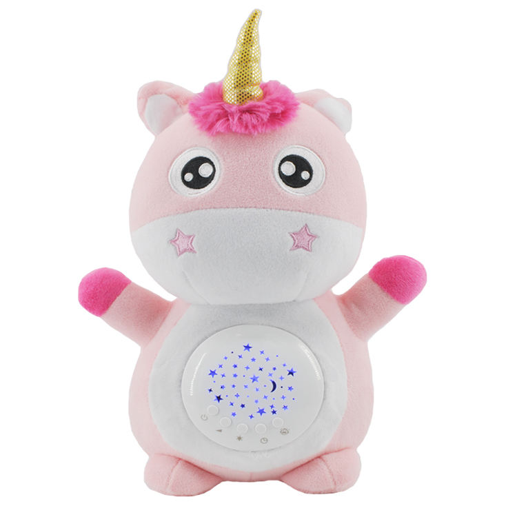 Musical Projection Baby Plush Toys White Noise Sound Sleeping Soothing Machine With Night light