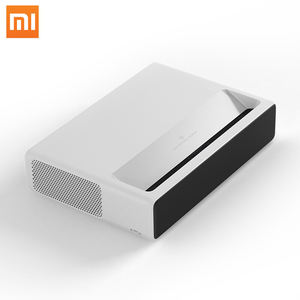 Xiaomi Ultra Short Throw Android Full HD 1080P 3D Laser DLP Proyektor dengan 1920*1080P Resolusi Asli 4000 Lumen IR Sensor