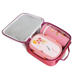 LULA Plastic Lunch Box with Water Bottle Customized Plastic Bento Children Bulk Lunch Boxes Warmer 1400ml Lunch Box School