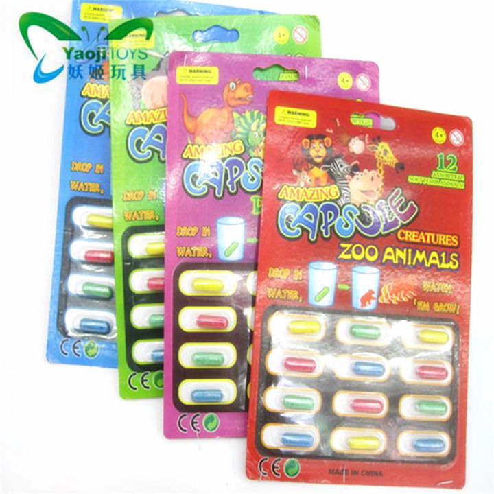 Magic Growing Sponge Animal Creatures Mini Toy Capsule