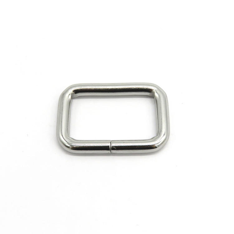 Wholesale factory iron rectangle square d ring metal adjustable buckles