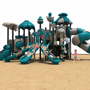 New design used school children Plastic Slide outdoor playground for sale