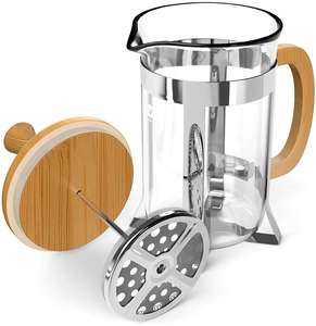 New Styles Glass Portable Bamboo French Press With Handle