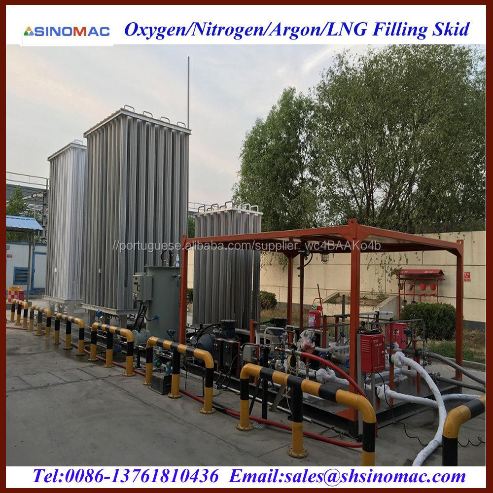 Movable L-CNG Enchimento Skid Estação Planta <span class=keywords><strong>de</strong></span> Produção