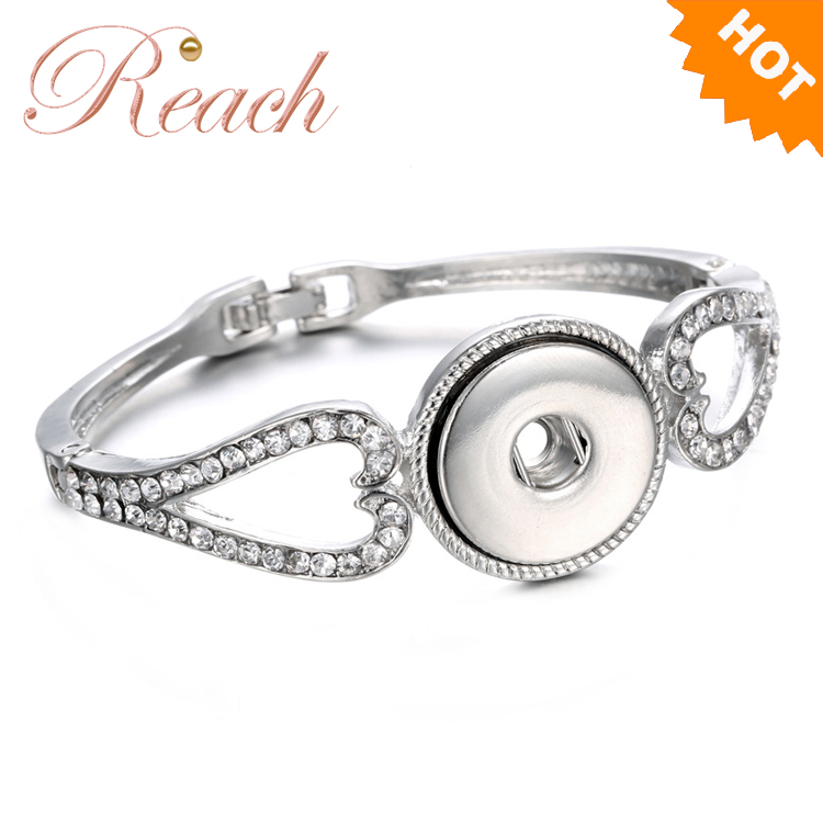 Wholesale Customized New Design Alloy 18mm Snap Button Jewelry Snap Bracelet