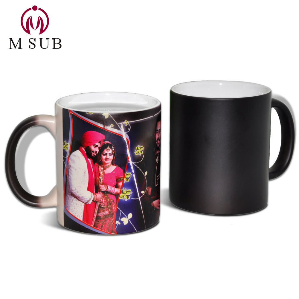 Hot selling ! 11oz custom photo print promotional heat activated ceramic mug