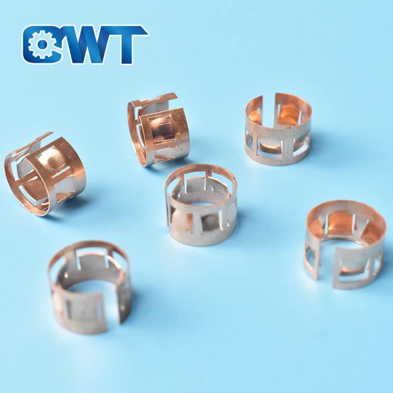 QWT directa de la fábrica de piezas de estampado de metal linterna metralla core jacks cerrado cubierta terminal hembra