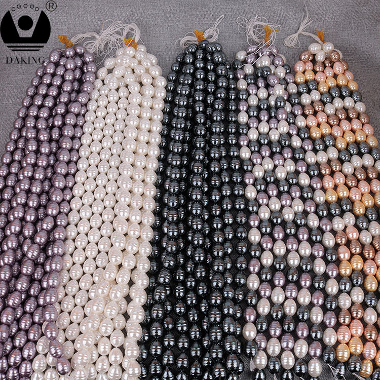 Natural Shell Pearl 13*16mm Thread Pattern Water-drop Charm Beads Full Hole Bead For DIY Jewelry Making Accessories