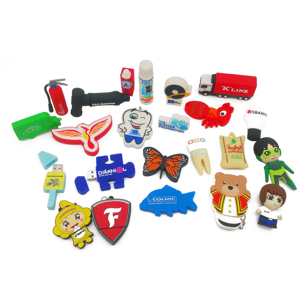 3D Custom designed Fancy Cute Cartoon USB Flash Drive Promotional Gift for School Kids USB 2.0 USB 3.0