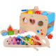 Rolimate Children educational Learning Color Recognition sorter Xylophone Wooden Hammering Pounding Toys for toddlers
