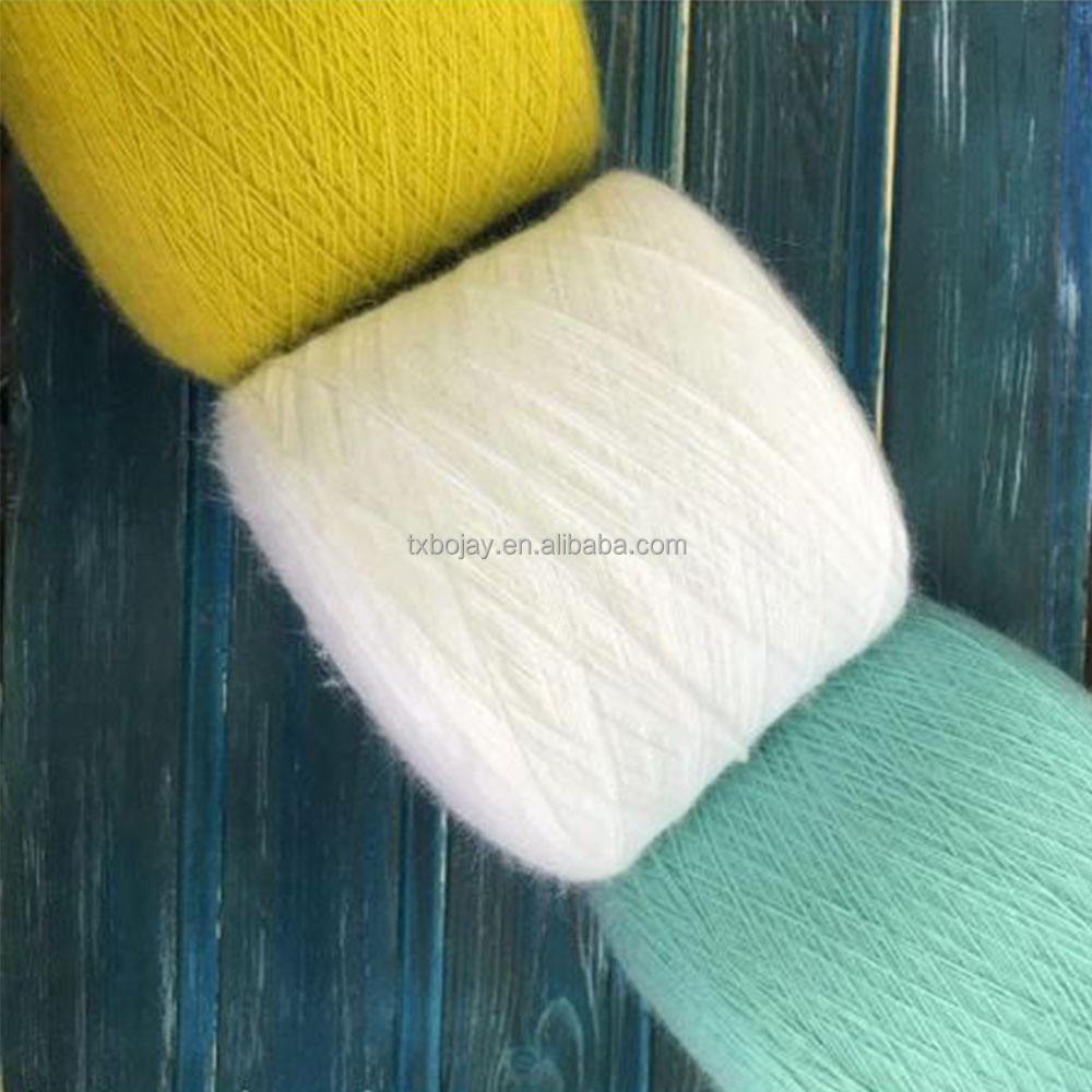 Blended Wool yarn Nm 36/1 40% Wool 60% Polyester blended combed yarn with dyed colors for machine knitting fabric from China