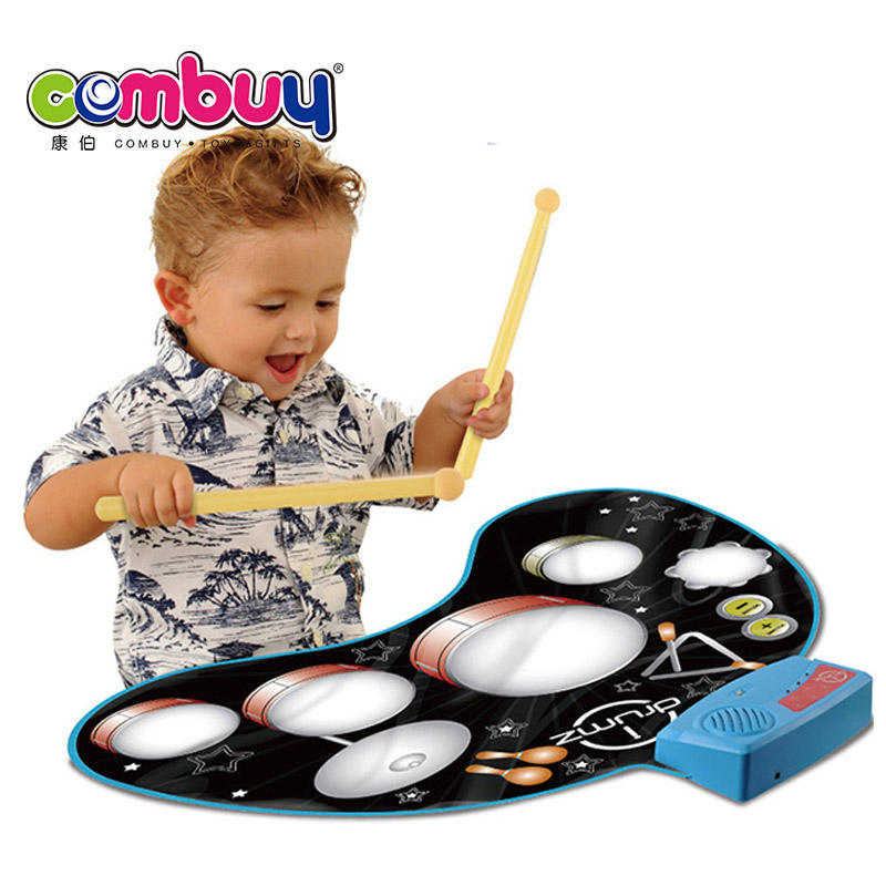 Electronic jazz playmat kit music carpet hand roll up drum