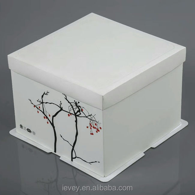 7 inch beautiful design folding paper bakery cake box packaging