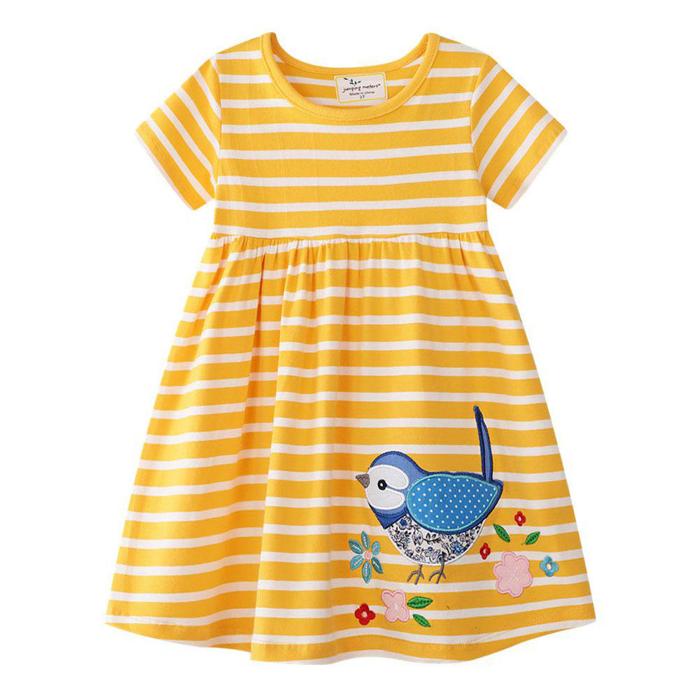 Children Clothes Casual Print Kids Baby Girl Smocked Dresses