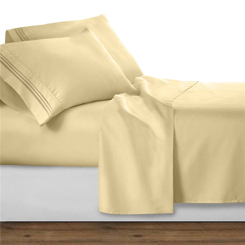 Solid Color Eco-friendly 100% Bamboo Pillow Covers High-end Pillowcases