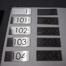 Stainless steel metal numbers and letters house number hotel room door